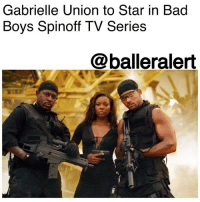 "Bad, Bad Boys, and Doug: Gabrielle Union to Star in Bad  Boys Spinoff TV Series  @balleralert Gabrielle Union to Star in Bad Boys Spinoff TV Series - Blogged by: @RaquelHarrisTV ⠀⠀⠀⠀⠀⠀⠀⠀⠀ ⠀⠀⠀⠀⠀⠀⠀⠀⠀ The hit classic BadBoys is coming to our screens weekly in a spinoff TV series! ⠀⠀⠀⠀⠀⠀⠀⠀⠀ ⠀⠀⠀⠀⠀⠀⠀⠀⠀ The new show will focus on GabrielleUnion's character, Special Agent Sydney ""Syd"" Burnett from the franchise's second film. ⠀⠀⠀⠀⠀⠀⠀⠀⠀ ⠀⠀⠀⠀⠀⠀⠀⠀⠀ In the film, Union's character was the sister of Detective Lieutenant Marcus Burnett ( MartinLawrence), who worked as a DEA undercover agent and ends up falling in love with WillSmith's character Mike Lowry. ⠀⠀⠀⠀⠀⠀⠀⠀⠀ ⠀⠀⠀⠀⠀⠀⠀⠀⠀ The show has yet to be named but it's being written by Blacklist writers, Brandon Margolis and Brandon Sonnier, and produced by Jerry Bruckheimer and Doug Belgrad. Deadline reported on Thursday that the show is being pitched to several networks. ⠀⠀⠀⠀⠀⠀⠀⠀⠀ ⠀⠀⠀⠀⠀⠀⠀⠀⠀ This news comes right in time for Union's fans as BeingMaryJane ends next year in a two-hour series finale."