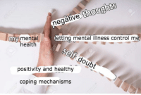 Control, Health, and Mental Illness: gaive thoughts  mmy mentaletting mental illness control me  health  go  positivity and healthy  ub  coping mechanisms