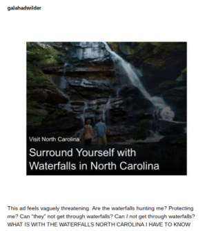 """Threating Waterfalls: galahadwilder  Visit North Carolina  