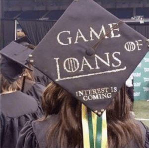 Best graduation cap ever: GAME  DANS  INTEREST IS  COMING Best graduation cap ever