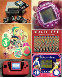 80s, Memes, and Nintendo: GAME  GEAR  T BUTTON  MAGIC EYE  A New Way of Looking at the World  ELECTRONIC  Beauty and the  Beast  DODGE  NAGIC  WM Dinney Company If you recognize all of these geeky 80s-90s toys, you the real MVP! 😊 (via popsugar.com) TBT ThrowbackThursday nintendo pogs tamagotchi sega magiceye lootcrate