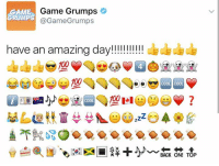 Game Grumps  GAME  RUMP  @Game Grumps  have an amazing day!!!!!!!!!!!  100  COOL  BACK ON! TOP