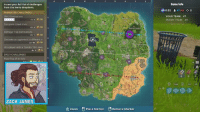 Memes, Trap, and Zoom: Game Info  Access your full list of challenges  from the menu dropdown.  SUGGESTED CHALLENGES  SMG E  YOUR TEAM: 47  ENEMY TEAM: 49  liminations  1/3  10  Complete timed trials  0/3  10  Damage Trap Eliminations  ョiminate an opponent in different  Hit a player with a Tomato 15m awa)  0,1 +10  0 / 10  , 10  0/1壳5  DAILY CHALLENGES  Place Top 25 in Solo  Tab  F4 F5  ZACK JAMES  θ  Place Marker  gRemove Marker  Zoom