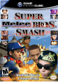 GAME  NINTENDO CUBE  SUPER  Melee BRDS  SMASH  MEME  Nintendo Best in  4 Player Action!  Ninne Super Melee Brothers Smash