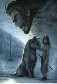 Game of Thrones, Tumblr, and Ned Stark: game-of-thrones-fans:  Ned Stark looking over Arya Stark