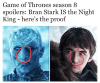 The only proof I need is the massive nose: Game of Thrones season 8  spoilers: Bran Stark IS the Night  King - here's the proof The only proof I need is the massive nose