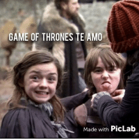 GAME OF THRONES TE AMO Made With PicLab Behind Scense Gameofthrones  Gameofthronesteamo GoT   Meme on ME.ME