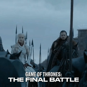 Dank, Game of Thrones, and Game: GAME OF THRONES:  THE FINAL BATTLE Weeks of nightly filming and actors' tears went into the making of the huge final Game of Thrones battle sequence, which will be the longest in film history 🐉❄️🔥