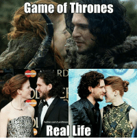 Game of Thrones, Goals, and Hbo: Game of Thrones  twitter.com/LordSnow  Real Life Kit Harington & Rose Leslie are relationship goals ❤ . . . . . . . thronesmemes gameofthrones asoiaf got hbo gameofthronesfamily gameofthroneshbo gameofthronesfan gameofthronesmemes gotmemes jonsnow kitharington roseleslie ygritte