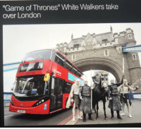 "Game of Thrones, Tumblr, and Winter: ""Game of Thrones"" White Walkers take  over London  LK65 BYO game-of-thrones-fans:  NIGHT KING STILL ON HIS WAY TO WINTER FELL😱"