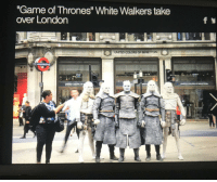 "game-of-thrones-fans:  THE NIGHT KING ON HIS WAY TO WINTERFELL: ""Game of Thrones"" White Walkers take  over London  UNITED COLORS OF  UNITED COLORS OF BENETION game-of-thrones-fans:  THE NIGHT KING ON HIS WAY TO WINTERFELL"