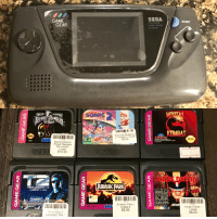Jurassic Park, Power Rangers, and Sonic the Hedgehog: GAME  SEGA  START  GEAR  PORTABLE  VIDEO GAME  SYSTEM  -TMİGHT  SON  0:2  MORPHINE  WERTRANG  Sonic the Hedgehog  2 Grade A/ Loose  $5.00  KIMBAT  SC  564  Mighty Morphin  Power Rangers  The movie  Loose  $10.00  Jtl  JURASSIC PARK  ●&01995 Acciaim  OREO0  0. for play on the  SEGA GAME GEAR  SYSTEM JUDGE DRED0  1995 Cinergi  15113  Jurassic Park  Grade A  amic ie  C14も  70-3546  Judge Dredd  $5.00  oose  $8.00  Terminator 2  Judgment Day