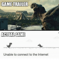 Internet, Game, and The Internet: GAME TRAILER  ACTUAL GAME  Unable to connect to the Internet