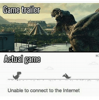 Funny, Internet, and Memes: Game trailer  Actual game  Unable to connect to the Internet  H2 🔸🔸🔸🔸🔸🔸🔸 Don't Hate, Just Relate 🔸🔸🔸🔸🔸🔸🔸🔸🔸🔸🔸 Link to my YouTube is in my bio 🔸🔸🔸🔸🔸🔸🔸🔸🔸🔸🔸 Follow my Twitter aswell 'hiitsrelate' 🔸🔸🔸🔸🔸🔸🔸🔸🔸🔸🔸 PC- @ 🔸🔸🔸🔸🔸🔸🔸🔸🔸🔸🔸 codmemes callofduty cod aw ghosts bo2 mw3 memes comedy xbox xbox360 xboxone xbone xbl playstation ps4 ps3 games gaming funny bo3 codrelated
