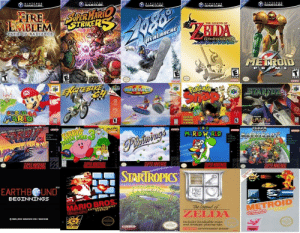 Heres the 20 games that should be included in my Nintendo subscription: GAMECUBE  NINTENDO  GAMECUBE  NINTENDD  GAMECUBE.  NINTENO O  GAMECUBE  NİNTENDO  GAMECUBE.  CIRE  EMBLEM  STRIKE  THE LEGEND OF  PATH OF RADIANCE  indake  MZ E  Pokcmon  SUPER  MARIO WORLD  R NINTENDO  SUPER NINTENDO  EARTHBOUND  SUPER  MARIO BRO  METROID  ntalo ENTER  ZELDA  Includes invaluuble mups  mesmDan  d strategic playi  ng tips  SYSTEM Heres the 20 games that should be included in my Nintendo subscription