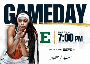 Basketball, Espn, and Memes: GAMEDAY  MARCH 6  CONVO CENTER I YPSILANTI. M.  WATCH ON ESrII It's GAME DAY Women's Basketball at Eastern Michigan 📍 Convo Center - Ypsilanti, MI ⏰ 7:00 P.M. (ET) 📺 ESPN+ 📻 Rocket Sports Radio Network, 1370 AM & 92.9 FM (WSPD) #ThisIsToledo | #GoRockets