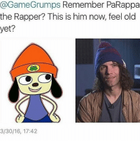 No: @GameGrumps Remember PaRappa  the Rapper? This is him now, feel old  3/30/16, 17:42 No