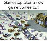 Gamestop, Memes, and Exo: Gamestop after a new  game comes out  @exo jumps Haven't been to GameStop in probs a year✌🏾 @exo.jumps