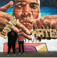 @gammagallery the homie @ogmikegiant & I were stoked to take pics in front of your work. Thanks Man, for being Dope! Mike thank u for smoking with me, trading talk for hours and taking me to a bomb ass steakhouse. I am still in awe of you and your work, Mike. I am really overwhelmed and appreciate kicking with you today. Salutes U mane. Stay Trill.: @gammagallery the homie @ogmikegiant & I were stoked to take pics in front of your work. Thanks Man, for being Dope! Mike thank u for smoking with me, trading talk for hours and taking me to a bomb ass steakhouse. I am still in awe of you and your work, Mike. I am really overwhelmed and appreciate kicking with you today. Salutes U mane. Stay Trill.