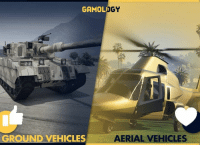 Video Games, Vehicle, and Grounded: GAMOL  OGY  GROUND VEHICLES  AERIAL VEHICLES What kind of vehicle do you prefer?