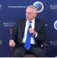 "Defense Secretary James Mattis is a national treasure. 🇺🇸: GAN PRA  REAGA  DEFE  AL  WWW.REAGANFOUNDATION.ORG  REAGAN NA""  DEFENSE  ORG  REAGA  DEFE  AL Defense Secretary James Mattis is a national treasure. 🇺🇸"