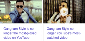 avvocarlo:: Gangnam Style is no  longer the most-played  video on YouTube  Gangnam Style no  longer YouTube's most-  watched video avvocarlo: