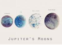 Jupiter, Europa, and Moons: GANYMEDE  CALLISTO  EUROPA  JUPITER' s MOONS