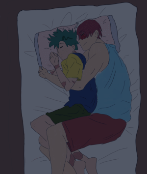 Phone, Sorry, and Target: garbageisland-0:  Tododeku cuddles are the only way to survive the angst,,,  (Sorry if there are any mistakes! I drew this on my phone without using a pen :)
