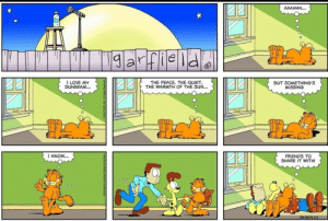 Garfield can be wholesome too: Garfield can be wholesome too
