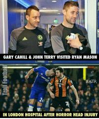 Respect 👏 🔺LINK IN OUR BIO!! 😎🔥: GARY CAHILL & JOHN TERRY VISITED RYAN MASON  SportPesa  IN LONDON HOSPITAL AFTER HORROR HEAD INJURY Respect 👏 🔺LINK IN OUR BIO!! 😎🔥