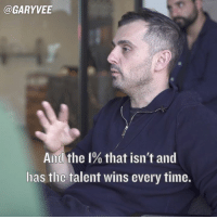 If you want to be an anomaly, you have to act like one 😉 ... patience my friends .. patience: @GARY VEE  And the I% that isn't and  has tlic talent wins every time. If you want to be an anomaly, you have to act like one 😉 ... patience my friends .. patience