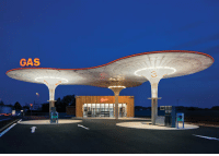 Gas Station, Slovakia, and Futuristic: GAS  3 <p>Futuristic Gas Station In Slovakia.</p>