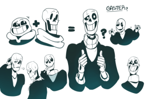 themcnobody:  Ah finally put out some more doodles of Gaster, so here are some possible skeletal designs for him. I figured he would be somewhere in between Sans and Papyrus Design  ┐(´∀`)┌  : GASTEP2 themcnobody:  Ah finally put out some more doodles of Gaster, so here are some possible skeletal designs for him. I figured he would be somewhere in between Sans and Papyrus Design  ┐(´∀`)┌