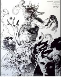 Gatekeeper of the Ruin: Full Ink Inspired by Greek Mythology... a character from the underworld;) This drawing is in my NEW Print Set, available now. (11 different prints) Link in my profile, to see details and art that is included. andybrase inks inking inkdrawing penandink crosshatching conceptart conceptartist originalart comicart mythology postapocalyptic tentacles creaturedesign skulls lineart darkart fantasyart micron: Gatekeeper of the Ruin  Original Ink  Andy Brase  A N D Gatekeeper of the Ruin: Full Ink Inspired by Greek Mythology... a character from the underworld;) This drawing is in my NEW Print Set, available now. (11 different prints) Link in my profile, to see details and art that is included. andybrase inks inking inkdrawing penandink crosshatching conceptart conceptartist originalart comicart mythology postapocalyptic tentacles creaturedesign skulls lineart darkart fantasyart micron