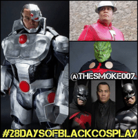 "My fourth 28daysofblackcosplay feature goes to the man of a thousand faces: @thesmoke007! 🙌🏾 You think my Cyborg cosplay is dope? Check out Erin ""The Smoke"" Moran's take on that AND half the entire JusticeLeague! This man has been personal cosplaygoals since day 1 so be sure to check out his page and give him a follow. -- Also be sure to follow @cosplayofcolor for daily cosplay photography that emphasizes diversity and representation. 👌🏾: GATHESMOKE007  H2BDAYSOFBLACKCOSPLAY My fourth 28daysofblackcosplay feature goes to the man of a thousand faces: @thesmoke007! 🙌🏾 You think my Cyborg cosplay is dope? Check out Erin ""The Smoke"" Moran's take on that AND half the entire JusticeLeague! This man has been personal cosplaygoals since day 1 so be sure to check out his page and give him a follow. -- Also be sure to follow @cosplayofcolor for daily cosplay photography that emphasizes diversity and representation. 👌🏾"