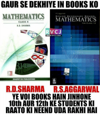 Yahi hai woh books rvcjinsta: GAUR SE DEKHIYE IN BOOKS KO  RS Aggarwal  MATHEMATICS  MATHEMATICS  SENIOR SECONDARY SCHOOL  CLASS X  FOR CLASS 12  R.D. SHARMA  RVCJ  WWW. RVCJ.COM  DHANPAT RAI PUBLICATIONS  R.D.SHARMA RS AGGARWAL  YE VOI BOOKS HAIN JINHONE  10th AUR12th KE STUDENTS KI  RAATO KINEENDUDA RAKHI HAI Yahi hai woh books rvcjinsta