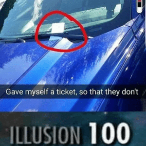 Anaconda, They, and Illusion: Gave myself a ticket, so that they don't  ILLUSION 100