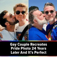 Cute, Gay, and Pride: Gay Couple Recreates  Pride Photo 24 Years  Later And It's Perfect This is really cute 💕