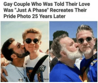 """Love, 25 Years, and Gay: Gay Couple Who Was Told Their Love  Was """"Just A Phase"""" Recreates Their  Pride Photo 25 Years Later  Cand <p>Love always wins. 🌈</p>"""