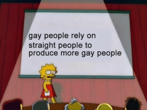 Dank, Facts, and Memes: gay people rely on  straight people to  produce more gay people Straight facts by cyberr_c28z MORE MEMES