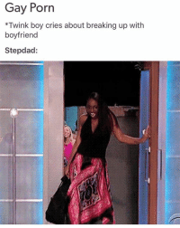 i love this meme: Gay Porn  *Twink boy cries about breaking up with  boyfriend  Stepdad: i love this meme