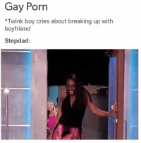 Run, Tumblr, and Gay Porn: Gay Porn  *Twink boy cries about breaking up with  boyfriend  Stepdad:  0 Run twink! Run for your lifeeee! 🏃🏻💨 (tumblr | yugiohnoshebetterdont)