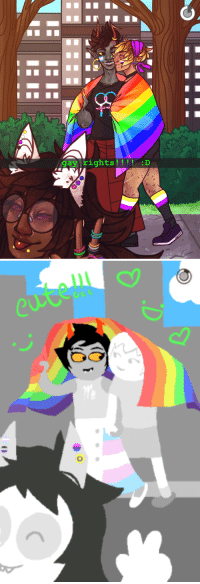Target, Tumblr, and Blog: gay rights! ! !!:D rose-ebottles:  redraw of one of my fav images from my friend @kanayamaryamistrans's earth c pride post