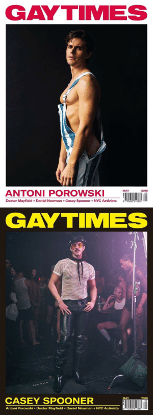 Butt, Newman, and Omg: GAYTIMES  ANTONI POROWS  MAY  2018  Dexter Mayfield + Daniel Newman + Casey Spooner + NYC Activists  9   GAYTIMES  CASEY SPOONER  ÜNI lin  MAY  2018  Antoni Porowski +Dexter Mayfield Daniel Newman+NYC Activists adifags:  theshitneyspears:  Omg that sliver of Antoni's butt I'm SHAKING THESE 👏🏼 COVERS 👏🏼 DID 👏🏼 THAT  This isn't even a sponsored post but deadass the magazine is so good lately so here's the link good sis's: https://buy.gaytimes.co.uk/products/gay-times-may-2018-antoni  he'd get rattled