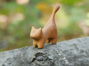 Gif, Tumblr, and Blog: gayweeddaddy69: cutekittensarefun: My hobby is woodcarving. I made this cat of cherry wood. Is he really good?