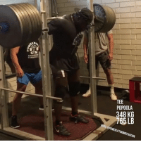 Tee Popoola Hits a massive 765 lbs (348 kg) for a double!!! via @squatchamps@teepopoola - Squat content updated daily! squatchamps powerliftingmotivation: GB  KL  08  EP  o 46  P37 Tee Popoola Hits a massive 765 lbs (348 kg) for a double!!! via @squatchamps@teepopoola - Squat content updated daily! squatchamps powerliftingmotivation