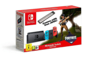 Nintendo, Cool, and Starter Pack: GB  NINTENDO  SWITCH  Comes with  SWITCH  FORTNITE  6 1716  Nintendo Switch  Red/rouge Is that the I think I'm cool starter pack?