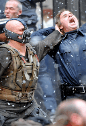 baneslashes:  Tumblr is a lonely place these days without Bane. But wait, here he is taking down a cop without even looking at him. It's all there, folks. The chest, the neck, the focus and the fierce eye. : GC baneslashes:  Tumblr is a lonely place these days without Bane. But wait, here he is taking down a cop without even looking at him. It's all there, folks. The chest, the neck, the focus and the fierce eye.