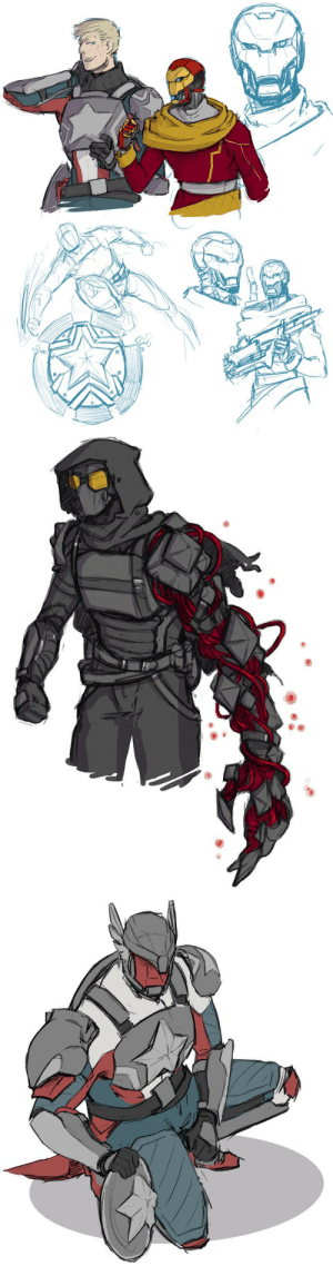 gcinkdraws:  I keep thinking about that Destiny!Avengers AU…So, may I suggest: Iron Lord Cap, Siva-corrupted Winter Soldier, and Exo Gunsmith Ironman?: gcinkdraws:  I keep thinking about that Destiny!Avengers AU…So, may I suggest: Iron Lord Cap, Siva-corrupted Winter Soldier, and Exo Gunsmith Ironman?