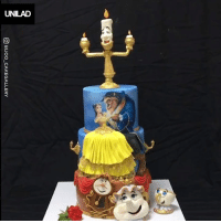 Dank, Beauty and the Beast, and Cake: GD BIJOO_CAKEGALLERY The attention to detail on this Beauty and the Beast cake is incredible 😍👏